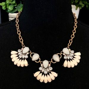 LEE ANGEL for Neimen Marcus pink/crystal necklace